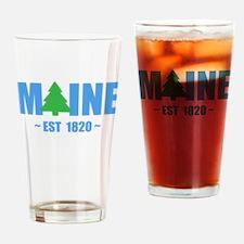 MAINE - EST 1820 PINE TREE Drinking Glass