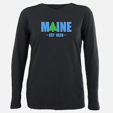 MAINE - EST 1820 PINE TREE Plus Size Long Sleeve T