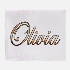 Gold Olivia Throw Blanket