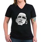 Obama 2008 Women's V-Neck Dark T-Shirt