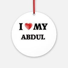 I love my Abdul Round Ornament