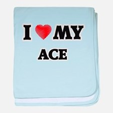 I love my Ace baby blanket