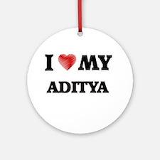 I love my Aditya Round Ornament