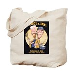Bruce and Jay Tote Bag