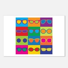 Sunglasses Checkerboard Postcards (package Of 8)