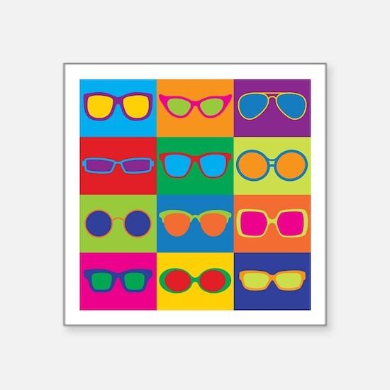 Sunglasses Checkerboard Sticker
