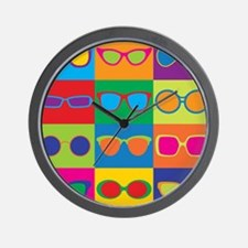 Sunglasses Checkerboard Wall Clock