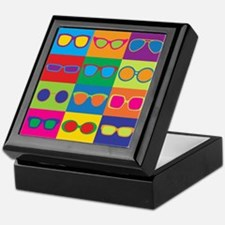 Sunglasses Checkerboard Keepsake Box
