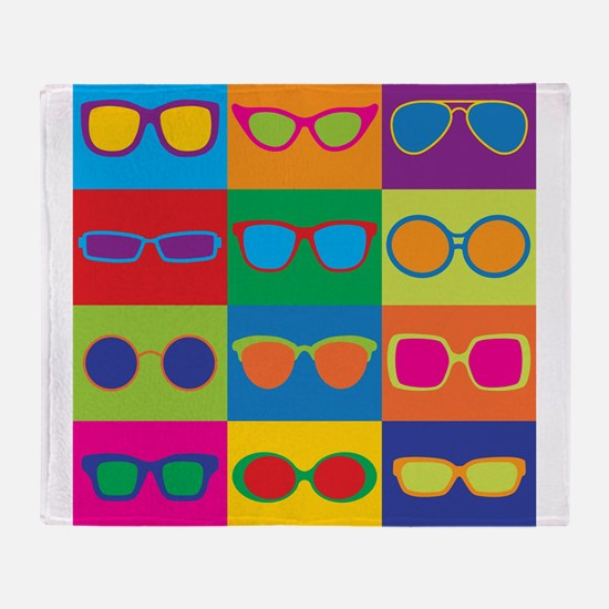 Sunglasses Checkerboard Throw Blanket