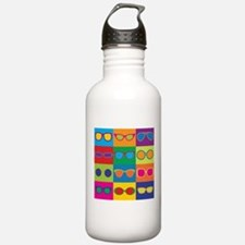 Sunglasses Checkerboard Water Bottle