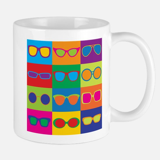 Sunglasses Checkerboard Mugs