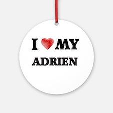 I love my Adrien Round Ornament