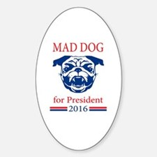 Cool Pug president Sticker (Oval)