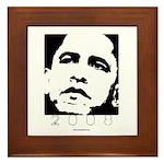 Obama 2008: 2 0 0 8 Framed Tile