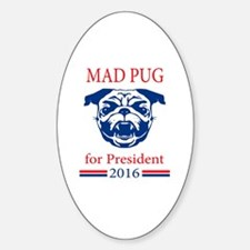 Cute Pug president Sticker (Oval)
