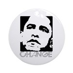 Obama 2008: Change Ornament (Round)