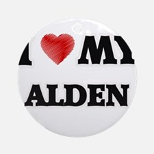 I love my Alden Round Ornament