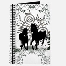 Awesome horses silhouette Journal