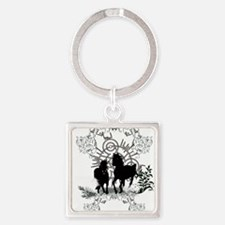 Awesome horses silhouette Keychains