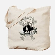 Awesome horses silhouette Tote Bag