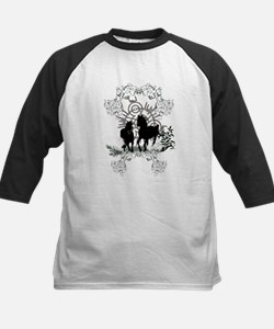 Awesome horses silhouette Baseball Jersey