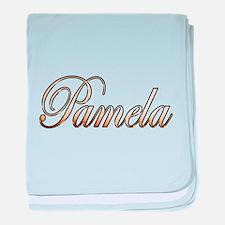 Gold Pamela baby blanket