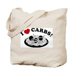 I Love Carbs! Tote Bag
