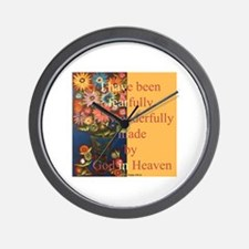 Wonderfully made by God Wall Clock