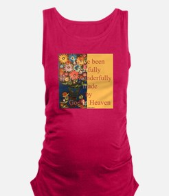 Wonderfully made by God Maternity Tank Top