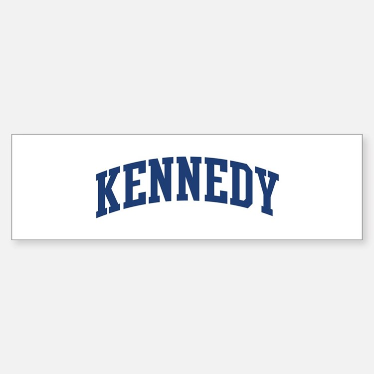 KENNEDY design (blue) Bumper Bumper Bumper Sticker