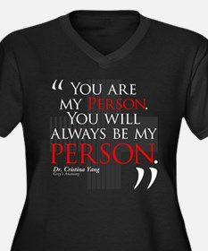You Are My Person Women's Dark Plus Size V-Neck T-
