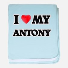 I love my Antony baby blanket