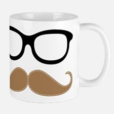Mustache and Glasses Mugs