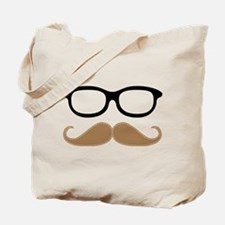 Mustache and Glasses Tote Bag