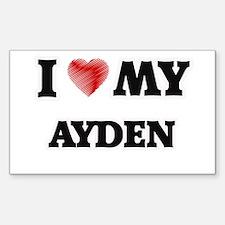 I love my Ayden Decal