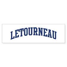 LETOURNEAU design (blue) Bumper Stickers
