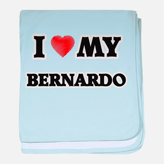 I love my Bernardo baby blanket