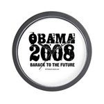 Obama 2008: Barack to the future Wall Clock