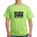 Obama 2008: Barack to the future Green T-Shirt