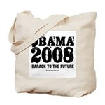 Obama 2008: Barack to the future Tote Bag