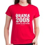 Obama 2008: Barack to the future Women's Dark T-Sh