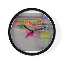 gold fish in squirtgun Wall Clock