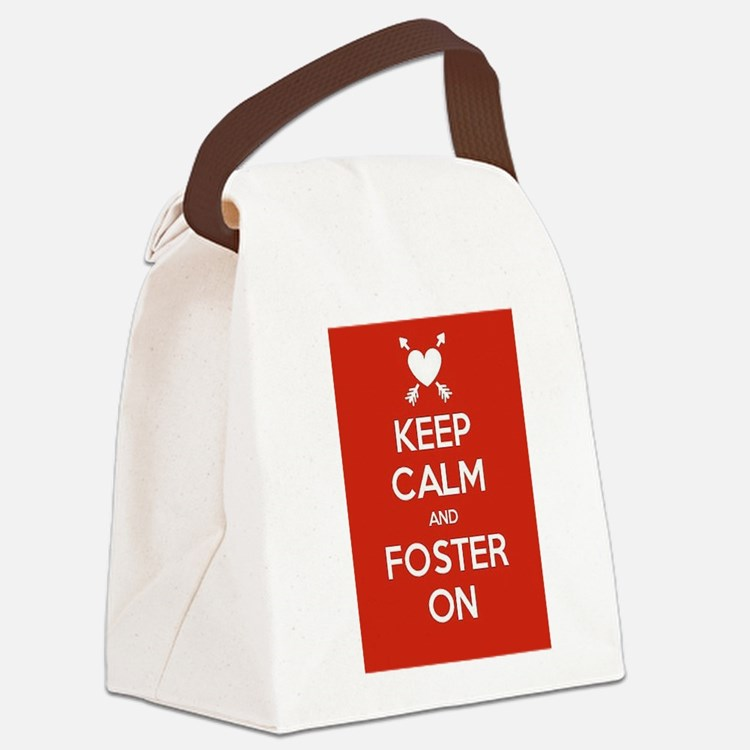 Cute Foster care Canvas Lunch Bag