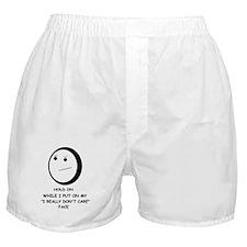 I DON'T CARE FACE Boxer Shorts