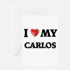 I love my Carlos Greeting Cards