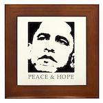 Obama 2008: Peace and Hope Framed Tile