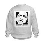Obama 2008: Peace and Hope Kids Sweatshirt