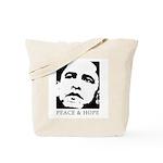 Obama 2008: Peace and Hope Tote Bag