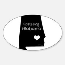 Funny Foster care Sticker (Oval)