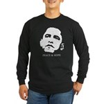 Obama 2008: Peace and Hope Long Sleeve Dark T-Shir